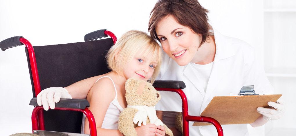 nurse and little girl